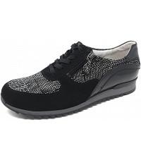 Waldläufer - Hurly - Sneaker - Memphis karo schwarz