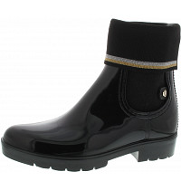 TOMMY HILFIGER - Knitted sock rain boot - Gummistiefel - black