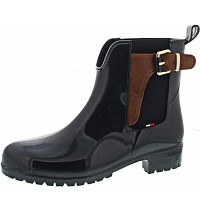 TOMMY HILFIGER - Gummistiefel - midnight/winter cognac