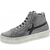 W6YZ - Sneaker - glitter-fur acciaio