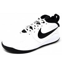 NIKE - Team Hustle - Sneaker high - white/black