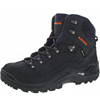 LOWA - Renegade GTX Mid - Wanderstiefel - navy-orange