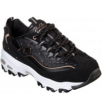 SKECHERS - Sneaker - black rosegold