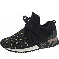 LA STRADA - Sneaker - glitter black leopard