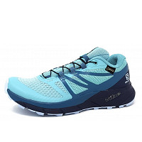 SALOMON - Sense Ride 2GTX - Walkingschuh - nile blue/navy
