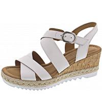 GABOR COMFORT - Sandalette - weiss (Kork/Jut