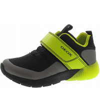 GEOX - Sveth Boy - Sneaker - black-lime
