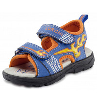 LURCHI - Kuby Blinker - Sandale - drk. cobalt orange