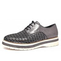 TAMARIS - Da.-Schuh - Schnürhalbschuh - schwarz metallic