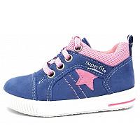 SUPERFIT - Ki.-Schuh - Kinderschnürschuh - blau/rosa
