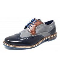 Bugatti - City Adamo - Schnürer - 4115 dark blue/ grey