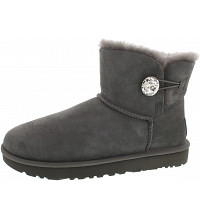 UGG - Mini Bailey Button Bling - Boots - grey