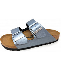 BIRKENSTOCK - Arizona - Pantolette - icy metalic anthrazit
