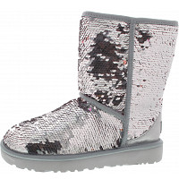 UGG - Classic Short Sequin - Boots - silver