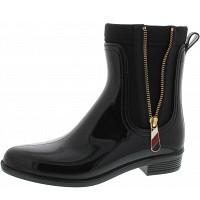 TOMMY HILFIGER - Material mix rain boot - Gummistiefel - black