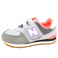 NEW BALANCE - 574 - Sneaker - grey-pink