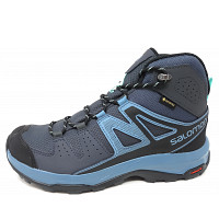 Salomon - X Radiant Mid GTX - Trekkingschuh - ebony/ blue stone/ Icy