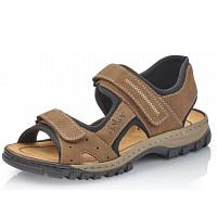 Rieker - Sandale - zimt schwarz