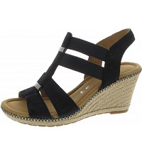 Gabor Comfort - Milano - Sandalette - pazifik(Jute/Na