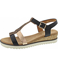 Gabor Comfort - Sandalette - schw(gold/Bst/creme)