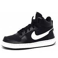 NIKE - Court Borough - sportlicher Schnürer - 001 black