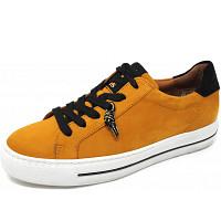 PAUL GREEN - Sneaker - curry schwarz