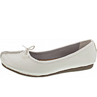 CLARKS - Freckle Ice - Ballerina - White Leather