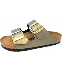BIRKENSTOCK - Arizona - Pantolette - ice metalic stone gold