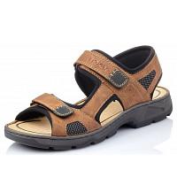 RIEKER - Sandale - mandel schwarz