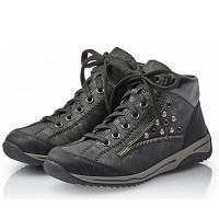 Rieker - Sneaker - schwarz/black-silver/black
