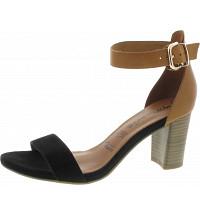 Tamaris - Sandalette - BLACK/NUT