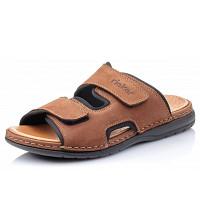 RIEKER - Pantolette - marrone black