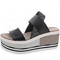 BUGATTI - CHAI - Sandalette - BLACK / WHITE