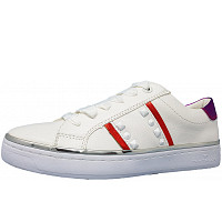 TOM TAILOR - Sneaker - white red