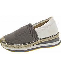 LA STRADA - Slipper - knitted taupe-whited