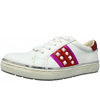 TOM TAILOR - Sneaker - white/red/pink