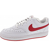 Nike - Wmns Court Vision Low - Sneaker - white-university red-whit
