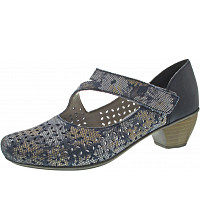 RIEKER - Pumps - blau-metallic/pazifik