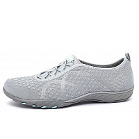 SKECHERS - Breath Easy - Slipper - grau