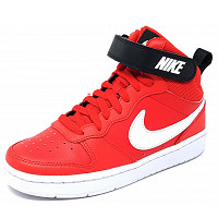 NIKE - Court Borough Mid - Sneaker high - red/white/black