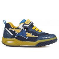 GEOX - J INEK B. B - MESH TUMB.SYN - Sneaker - NAVY/YELLOW