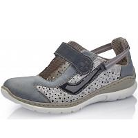 Rieker - Sneaker - adria silver flower