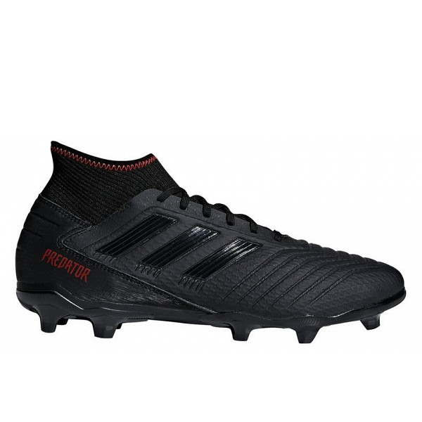 adidas core black/core black/active red