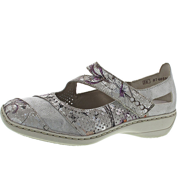 Rieker Ballerina white-metallic-ice