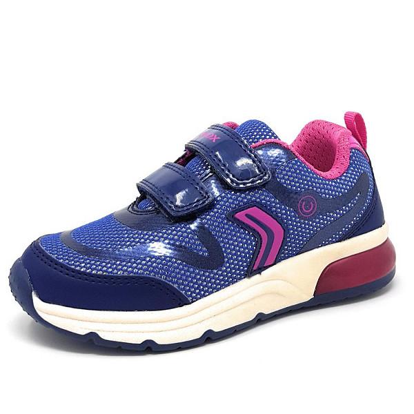 Geox J Spaceclub Sneaker C4268 navy fuchsia