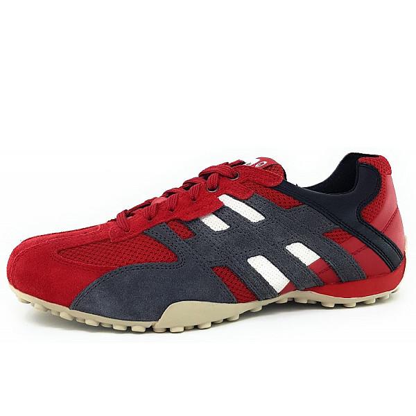 Geox Snake Sneaker rot/schwarz