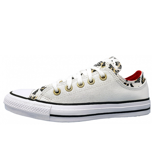 Converse All Star Double Upper Ox Leinenschuh white multi