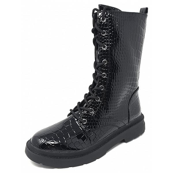 La Strada La Strada Stiefel patent black croco