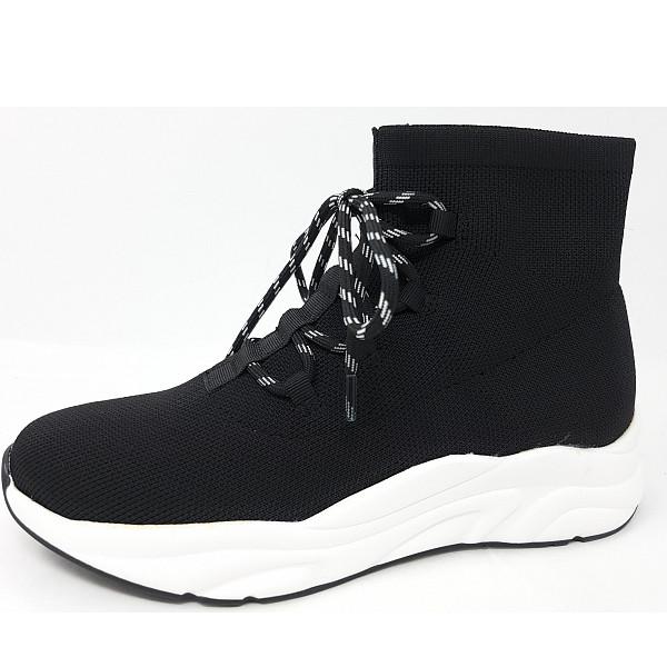 La Strada Sneaker high knitted black