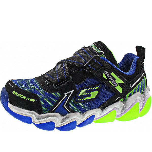 Skechers Downswitch Kletthalbschuh black-blue-lime